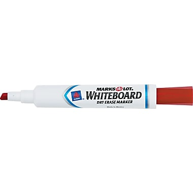 Avery Marks-A-Lot Chisel Point Dry-Erase Marker, Red, 12/Pack