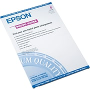 "Epson® Glossy Photo Paper, White, 11""(W) x 17""(L), 20/Pack"