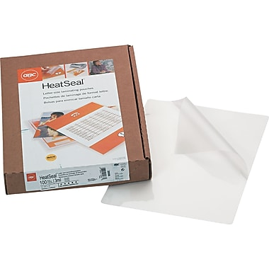 Swingline™ GBC® HeatSeal® UltraClear™ Laminating Pouch, 3 mil, 11 1/4in.(H) x 8 1/4in.(W), 100/Box