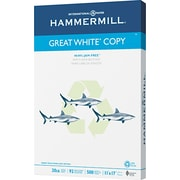 "Hammermill  Great White Recycled Copy Paper, 11""(W) x 17""(L),Ream"
