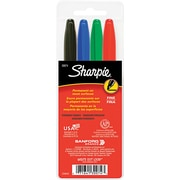 Sharpie Fine Point Permanent Marker, Assorted, 4/Pack