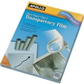 Apollo® Plain Paper Copier Transparency Film, Clear, 8 1/2in.(W) x 11in.(H), 100/Box