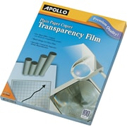 "Apollo® Plain Paper Copier Transparency Film, Clear, 8 1/2""(W) x 11""(H), 100/Box"
