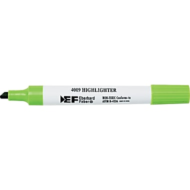 Berol 4009® Highlighter, Chisel Tip, Fluorescent Green