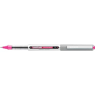 uni-ball  VISION Stick Roller Ball Pen, 0.7 mm Fine, Passion Pink, Dozen