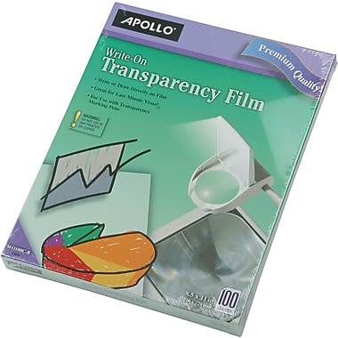 Apollo® Write-On Transparency Film, Clear, 8 1/2