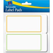 Avery® Removable Label Pad, White, Neon Green/Orange Borders, 2(W) x 4(L)
