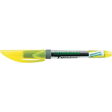 Ticonderoga  Emphasis Pocket Style Highlighter, Chisel Tip, Fluorescent Yellow