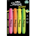 Sharpie ® Accent Jumbo Highlighter, Chisel Tip, Assorted, 4/Pack