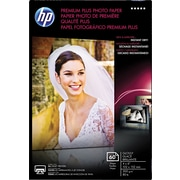 "HP Premium Plus Photo Paper, White, Glossy, 4""(W) x 6""(L), 60/Pack"