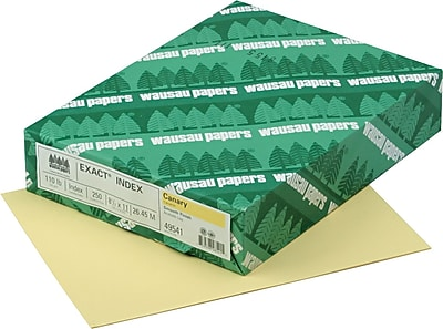 EXACT Index Cardstock 8 1 2 x 11 110 lb. Smooth Finish Canary 250 sheets