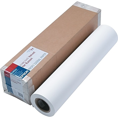 Epson® Somerset® Velvet Paper Roll, White, 24in.(W) x 50'(L), 1/Roll