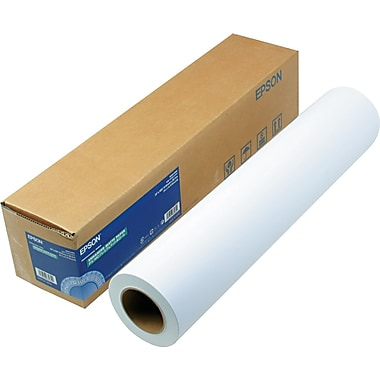 Epson® Enhanced Photo Paper Roll, Bright White, 24in.(W) x 100'(L), 1/Roll