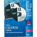 Avery ® 5697 Matte White CD/DVD Paper Label, 250/Pack