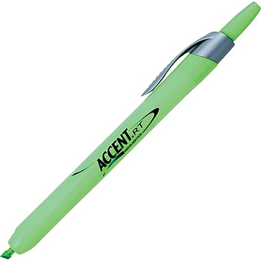 Sharpie  Accent Retractable Highlighter, Chisel Tip, Fluorescent Green