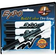 EXPO® Dry Erase Marker, Chisel Tip, Black, 4/Set
