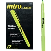 Paper Mate  Intro Highlighter, Chisel Tip, Fluorescent Green