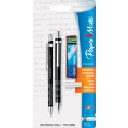 Paper Mate ® Mechanical Pencil, 0.9 mm (Dia), No. 2 Lead, Black Barrel, 2/Pack