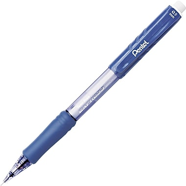 Pentel® Twist-Erase® Mechanical Pencil, HB-Soft, 0.5 mm (Dia), No. 2 Lead, Blue Barrel, 12/Pack