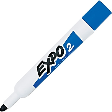Expo Low Odor Bullet Point Dry-Erase Marker, Blue, 12/Pack