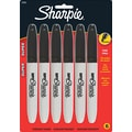 Sharpie  Super Permanent Marker, Fine Point, Black, 6/Pack