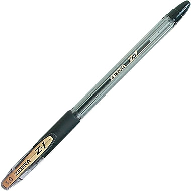 Zebra Z-1 Stick Ballpoint Pen, 1 mm Medium, Black, Dozen