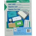 Avery ® PRES-a-ply ® 30617 White Laser Address Label, 1/2in.(W) x 1 3/4in.(L), 2000/Pack