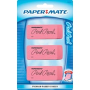 Paper Mate® Pink Pearl® Elastomer Compound Eraser, Large, 3/Pack