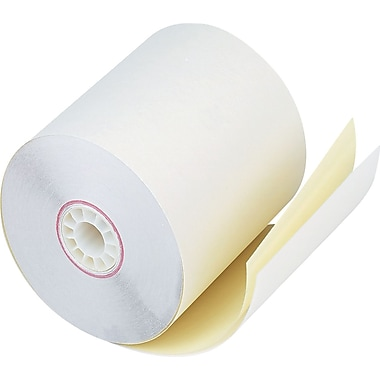 PM Company  Impact Printing Carbonless Paper Roll, Assorted, 2 3/4in.(W) x 90'(L), 50/Ctn