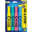 HI-LITER ® Desk Style Highlighter, Chisel Tip, Blue/Green/Pink/Yellow