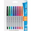 Paper Mate® Ultra Fine Flair® Marker Pen, Ultra Fine Felt Tip, Assorted, 8/Set