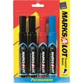 Marks-A-Lot® Permanent Marker, 3/16in., Regular Chisel Tip, Assorted