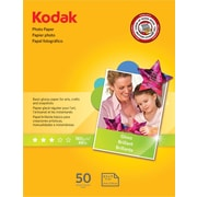 "Kodak Photo Paper, White, 8 1/2""(W) x 11""(L), 50/Pack"