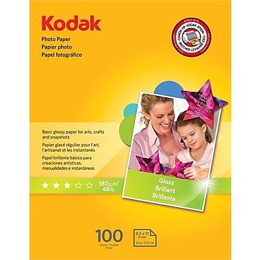 Kodak Photo Paper, White, 8 1/2in.(W) x 11in.(L), 100/Pack