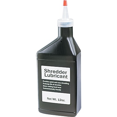 HSM of America Clear Shredder Lubricant With Extension Nozzle, 12 oz. Bottle