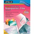 "Apollo® Inkjet Printer Transparency Film, Clear, 8 1/2""(W) x 11""(H), 50/Box"