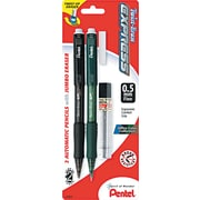 Pentel® Twist-Erase® Mechanical Pencil, HB-Soft, 0.5 mm (Dia), No. 2 Lead, Assorted Barrel, 2/Pack