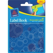Avery® 22067 Removable Label Pad Book, 1(W) x 3(L) Neon Green, 2(W) x 3(L) Neon Blue, 80/Pack