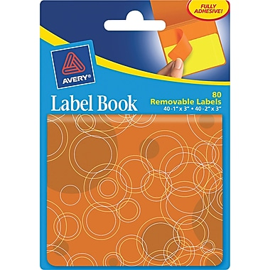 Avery® 80/Pack Removable Label Pad Books