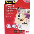 "Scotch® Laminating Pouch, 5 mil, 7 1/4""(H) x 5 3/8""(W), 20/Pack"