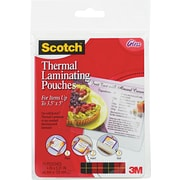 "Scotch® Laminating Pouch, 5 mil, 5 3/8""(H) x 3 3/4""(W), 20/Pack"