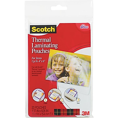 Scotch® Laminating Pouch, 5 mil, 6in.(H) x 4in.(W), 20/Pack