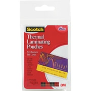 "Scotch® Laminating Pouch, 5 mil, 3 3/4""(H) x 2 3/8""(W), 20/Pack"
