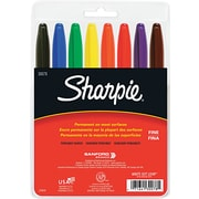 Sharpie® Fine Point Permanent Markers, Assorted, 8/Pack
