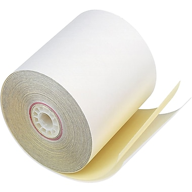 PM Company ® Two-Ply Impact Printing Carbonless Paper Roll, Assorted, 3in.(W) x 90'(L), 50/Ctn