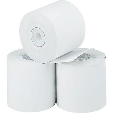 PM Company ® Direct Printing Thermal Paper Roll, White, 2 1/4in.(W) x 165'(L), 3/Pack