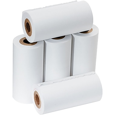 PM Company ® Impact Bond Adding Machine/Calculator Paper Roll, White, 2 1/4in.(W) x 17'(L), 5/Pack