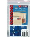 Smead  Alpha-Z Color-Coded Alphabetical Labels Second Letter Package Set B, Dark Blue