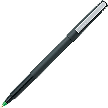 uni-ball ® Stick Roller Ball Pen, 0.7 mm Fine, Green, Dozen