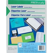 Avery ® PRES-a-ply ® 30632 White File Folder Label, 2/3(W) x 3 7/16(L), 1500/Box